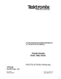 Manuale di servizio Tektronix 7B53A