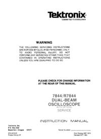 Service- und Bedienungsanleitung Tektronix R7844