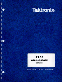 Serwis i User Manual Tektronix 2235