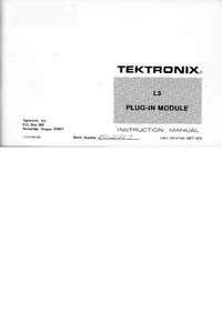 Serwis i User Manual Tektronix L3