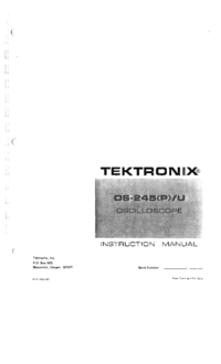 Serwis i User Manual Tektronix OS-245U