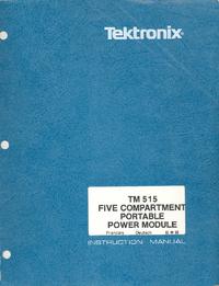 User Manual Tektronix TM515
