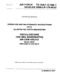 Service et Manuel de l'utilisateur Tektronix 465M