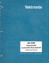 User Manual Tektronix SG 5030