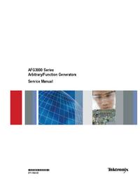 Manual de serviço Tektronix AFG3022B
