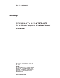 Service Manual Tektronix WFM 601E