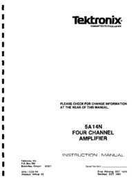 Servicio y Manual del usuario Tektronix 5A14N