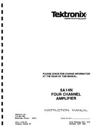 Service- und Bedienungsanleitung Tektronix 5A14N