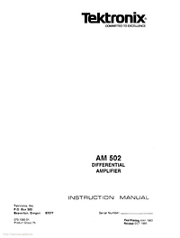 Service and User Manual Tektronix AM 502