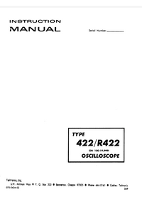 Serwis i User Manual Tektronix 422