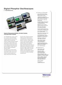 Datenblatt Tektronix TDS7000B Series