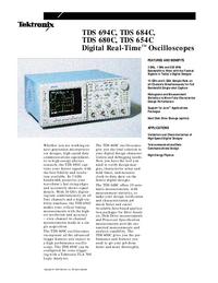 Технический паспорт Tektronix TDS 684C