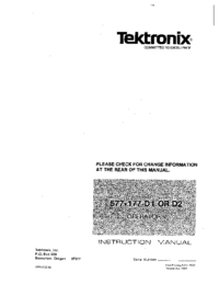 Service and User Manual Tektronix 577-177 D2