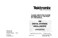 Service and User Manual Tektronix 468
