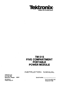 Service and User Manual Tektronix TM515
