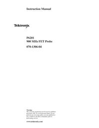 Обслуживание и Руководство пользователя Tektronix P6201