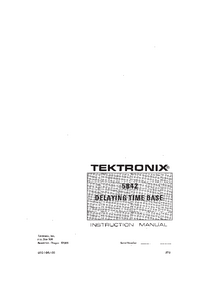 Serwis i User Manual Tektronix 5B42