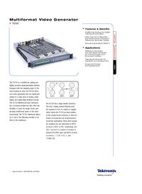 Dane techniczne Tektronix TG 700