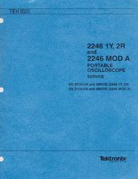 Service and User Manual Tektronix 2246 MOD A