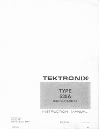 Service and User Manual Tektronix 535A