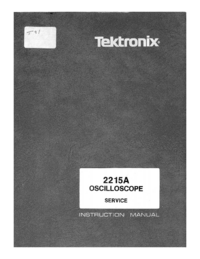 Manual de servicio Tektronix 2215A
