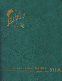 Servicio y Manual del usuario Tektronix 511AD