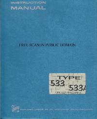 Serwis i User Manual Tektronix 533
