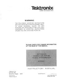 Service-en gebruikershandleiding Tektronix 067-0587-02