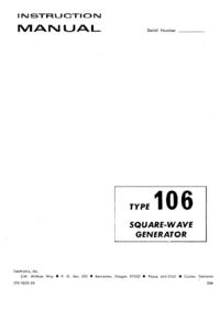 Servizio e manuale utente Tektronix 106