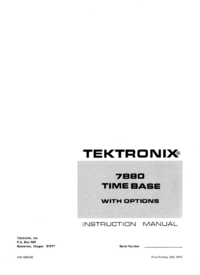 Service and User Manual Tektronix 7B80