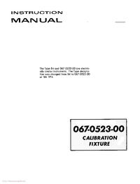 Serwis i User Manual Tektronix 067-0523-00