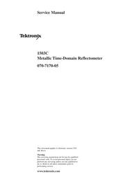 manuel de réparation Tektronix 1503C