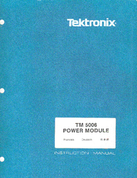 Servicio y Manual del usuario Tektronix TM 5006