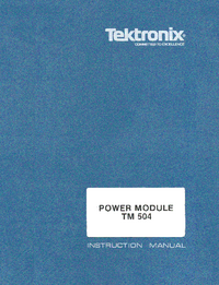 Servicio y Manual del usuario Tektronix TM 504