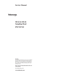 Service Manual Tektronix SD-26