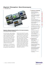 Технический паспорт Tektronix TDS7000B Series