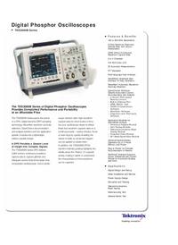 Scheda tecnica Tektronix TDS3000B Series