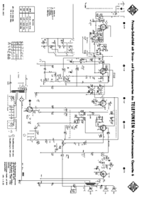 Service Manual, cirquit diagram only Telefunken Operette 6