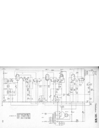 Service Manual, cirquit diagram only Telefunken 165 WK