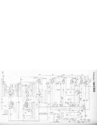 Service Manual, cirquit diagram only Telefunken 166 GWK