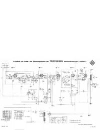 Service Manual, cirquit diagram only Telefunken Jubilate 7