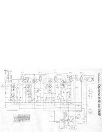 Service Manual, cirquit diagram only Telefunken Operette 50 W