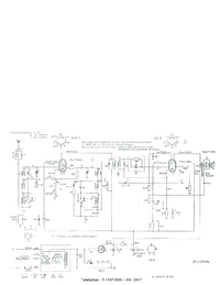 Service Manual, cirquit diagram only Telefunken T 4347 GWK