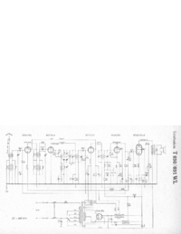 Service Manual, cirquit diagram only Telefunken 650 WL