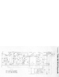 Service Manual, cirquit diagram only Telefunken 653 WLK Bayreuth