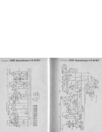 Manuale di servizio, diagramma cirquit solo Telefunken UKW Spezialsuper 9 H 99 WU