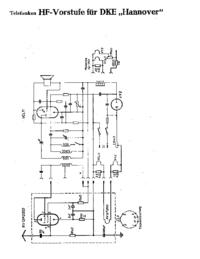 Service Manual Supplement, Cirquit Diagram only Telefunken DKE Hannover