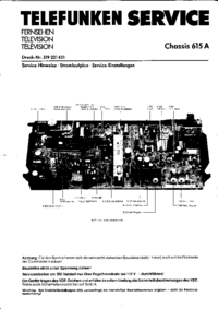 Service Manual Telefunken Chassis 615A