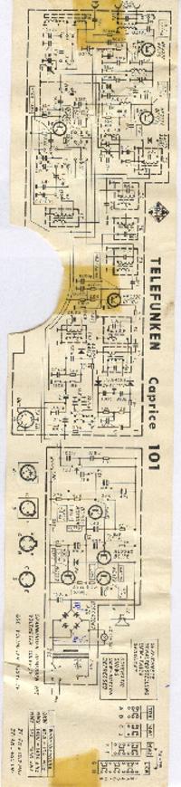 Manuale di servizio Telefunken Caprice 101