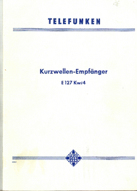 Telefunken-240-Manual-Page-1-Picture